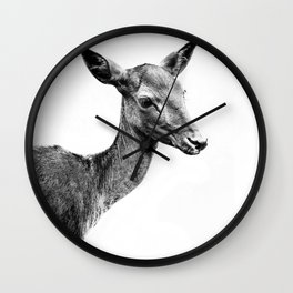 Deer portrait Wall Clock