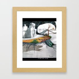 A long way alone. Framed Art Print