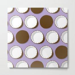 Coconut pattern 02 Metal Print
