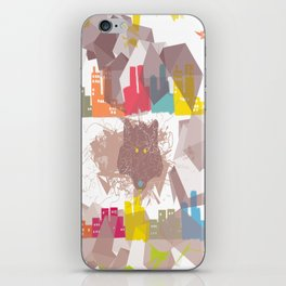 """""""the wolf in the town"""" iPhone Skin"""