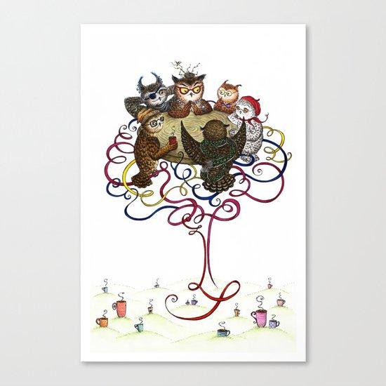 Art School Owl Assembly Canvas Print