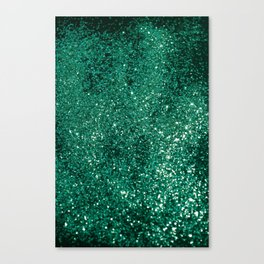Sparkling EMERALD Lady Glitter #1 #shiny #decor #art #society6 Canvas Print