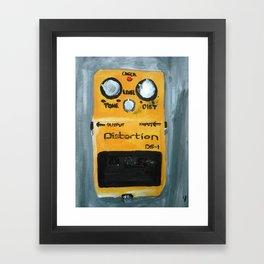 Guitar Pedal Boss DS1 Alternative Acrylic On Canvas Framed Art Print