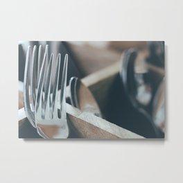 The Spooning Forks Metal Print