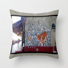 Rue des Rosiers, Paris Throw Pillow