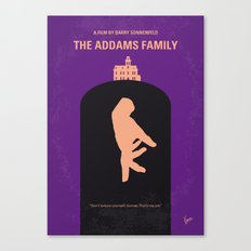 No423 My The Addams Family minimal movie poster Canvas Print