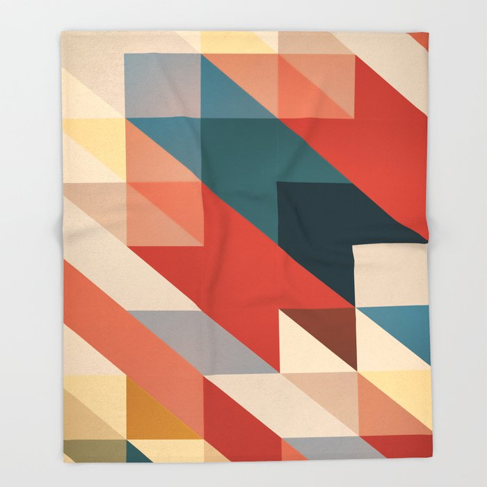 ABSTRACT 9D Throw Blanket