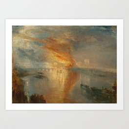 The Burning of the Houses of Lords and Commons, 16 October 1834- Joseph Mallord WIlliam Turner Art Print