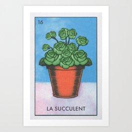 La Succulent Art Print