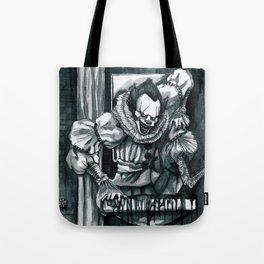 Clown in the Drain Tote Bag