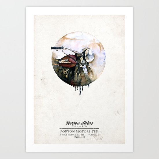 Norton Atlas Art Print