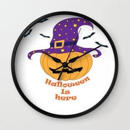 Halloween is here Wall Clock