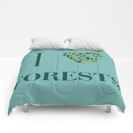 I heart Forests Comforters
