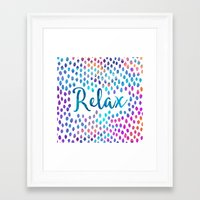 relax Framed Art Prints featuring Relax by Elisabeth Fredriksson