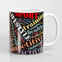 Sport related words pattern Coffee Mug