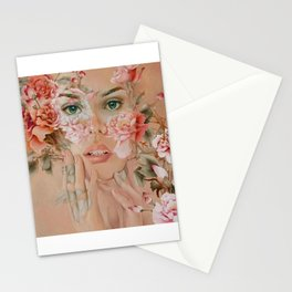 innocent face Stationery Cards