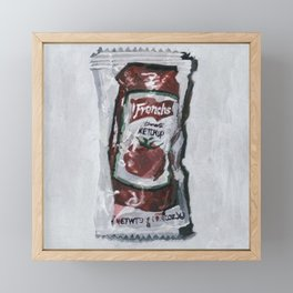 KETCHUP Framed Mini Art Print