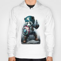 Hoodies featuring CAPTAIN PANDA by ADAMLAWLESS
