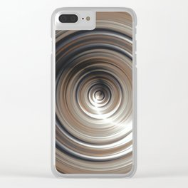 Cosmic Swirl: digital art with concentric circles Clear iPhone Case