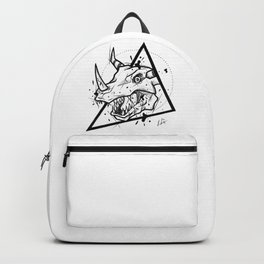Greymon Handmade Drawing, Made in pencil and ink, Tattoo Sketch, Tattoo Flash, Blackwork Backpack