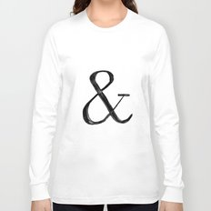 Ampersand watercolor Long Sleeve T-shirt