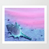 shell Art Prints featuring Shell by Elena Indolfi