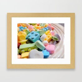 Like a kid in the candy store Framed Art Print