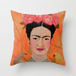 frida a coyoacan Throw Pillow