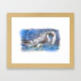 Alison Alligator Framed Art Print