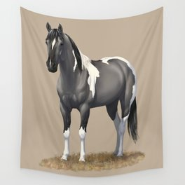 Grulla Paint Horse Wall Tapestry