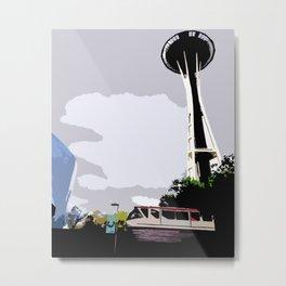 Midcentury Seattle Metal Print