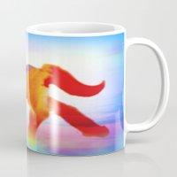 sea horse Mugs featuring Sea Horse by Laura Santeler