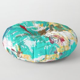 Aqua Bella by Noora Elkoussy Floor Pillow
