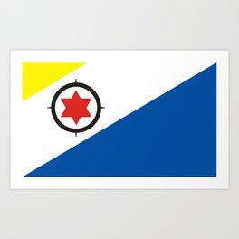 bonaire country flag Art Print