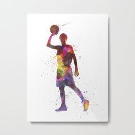 young man basketball player Metal Print