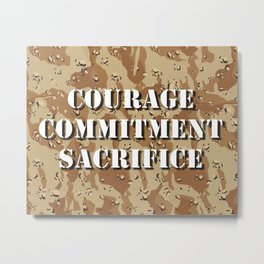 Desert Camouflage Metal Print