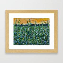 twilight mountain Framed Art Print