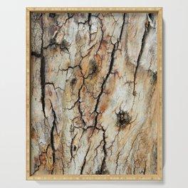 Cracked tree bark  Serving Tray