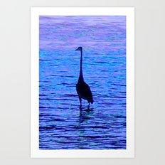 Bird Silhouetted Art Print