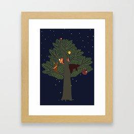 Forest Animals Friendship Day Framed Art Print
