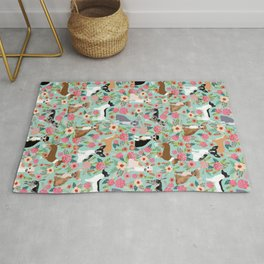 Chihuahua floral dog breed cute pet gifts for chiwawa lovers chihuahuas owners Rug