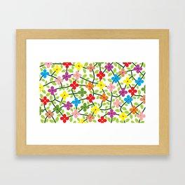 Spring white panel Framed Art Print