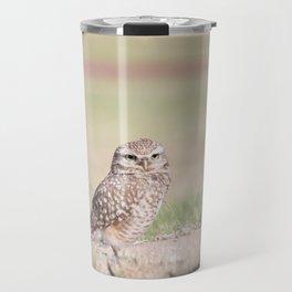 Burrowing Owl Guarding Nest Travel Mug