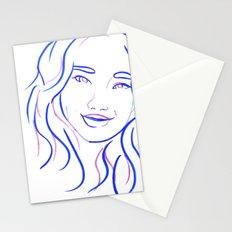 Blue Portrait Stationery Cards