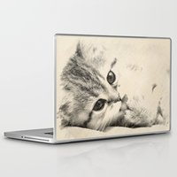 thundercats Laptop & iPad Skins featuring Kitten by Augustinet