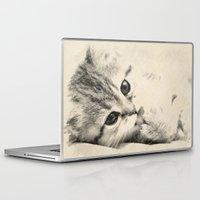kitten Laptop & iPad Skins featuring Kitten by Augustinet