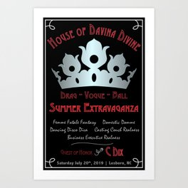House of Davina Divine Art Print