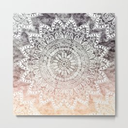 BOHEMIAN HYGGE MANDALA Metal Print