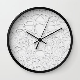 White on white, organic abstraction Wall Clock