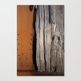 Rust & Old Wood Canvas Print